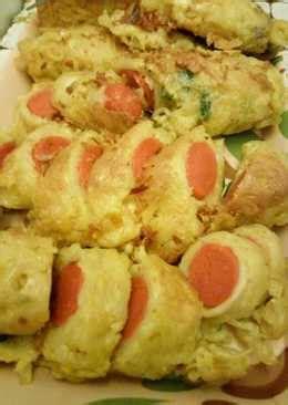 resep sosis gulung mie telur enak  sederhana cookpad
