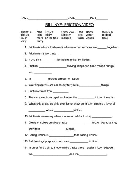 Greatest Discoveries With Bill Nye Physics Worksheet Answers by Bill Nye Energy Worksheet The Best And Most