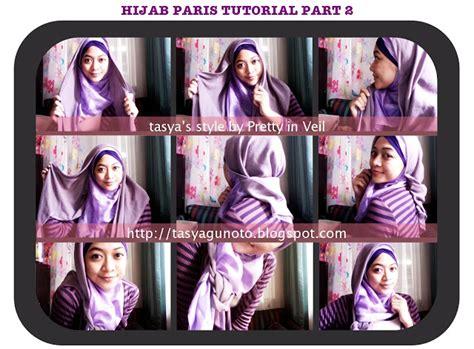 tutorial hijab paris buat hangout contoh cara memakai jilbab segi empat personal blog