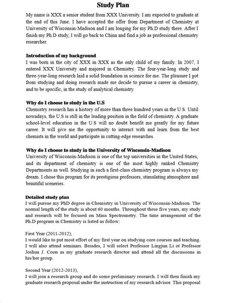 plan of study template study plan sle copy china schooling