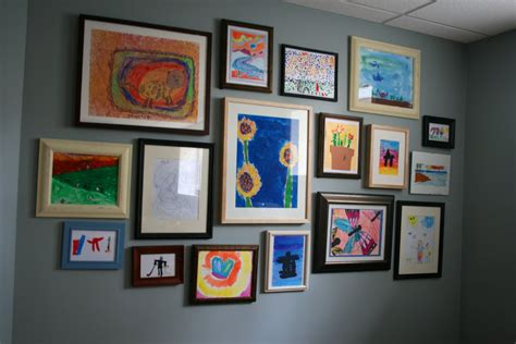 art gallery wall remodelaholic kids art gallery wall