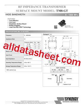 microwave oven diode datasheet tm8 gt datasheet pdf synergy microwave corporation