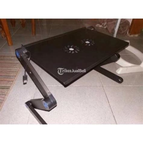 Meja Laptop Portable Aluminium With Cooler Big Fan Mousepad B Limited meja laptop portable lipat dilengkapi cooler mousepad murah jabar dijual tribun jualbeli