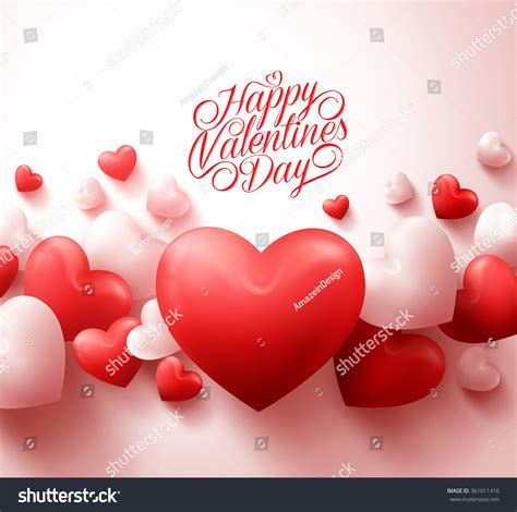 happy valentines day images 3d happy valentines day background 3d realistic stock vector