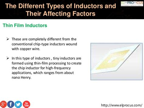 types of inductors and their applications the different types of inductors and their affecting factors