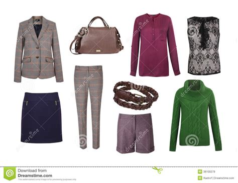 Nowela Set set of color clothes royalty free stock images
