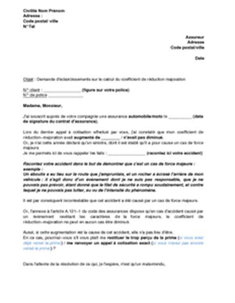 Lettre De Contestation Assurance Mobile exemple gratuit de lettre contestation augmentation prime
