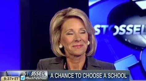 betsy devos wants school choice john stossel and betsy devos why not school choice