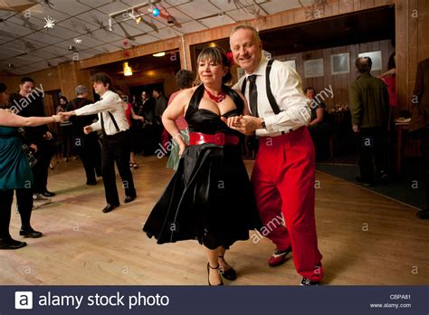 music swing dance club people swing dancing lindy hopping and jiving to retro 40s