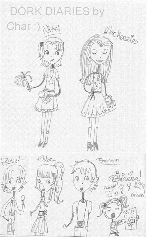 dork diaries hairstyles dork diaries characters dork diaries anime colour by