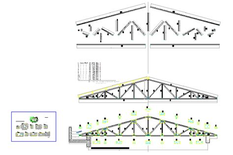 truss section bloques cad autocad arquitectura download 2d 3d dwg