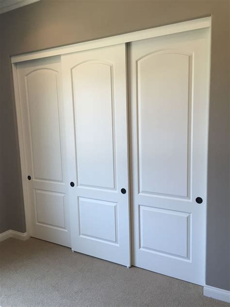 Closet Sliding Doors Sliding Closet Doors Three Panel Roselawnlutheran