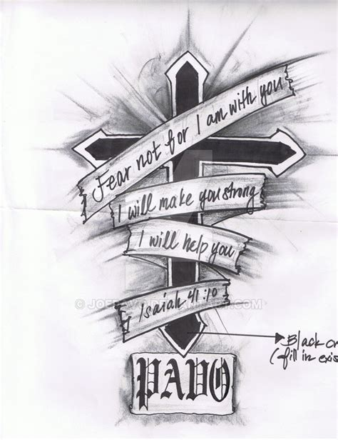 my tattoo isaiah 41 10 by joepavo on deviantart