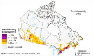 map of canada population canada map by population
