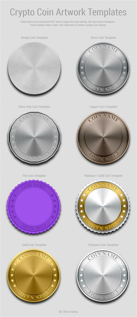 coin design template crypto coin artwork template free psd