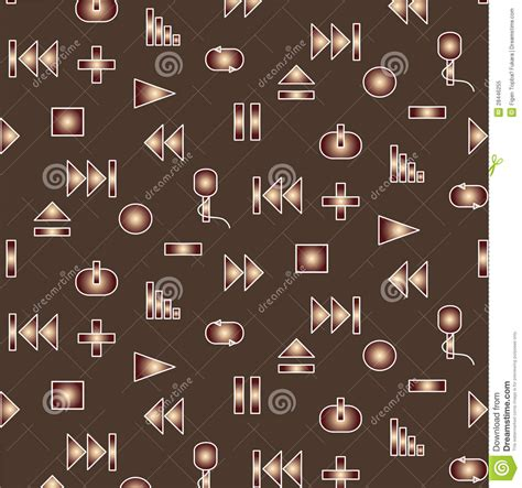 video player pattern music player icon pattern royalty free stock photo image
