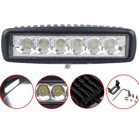 6in Led Light Bar 18w 6 Inch Led Light Bar Work Light Offroad 4wd Suv Atv Boat