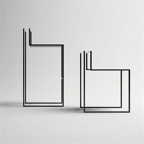 minimal furniture design nissa kinzhalina s gentle hint chairs resemble line