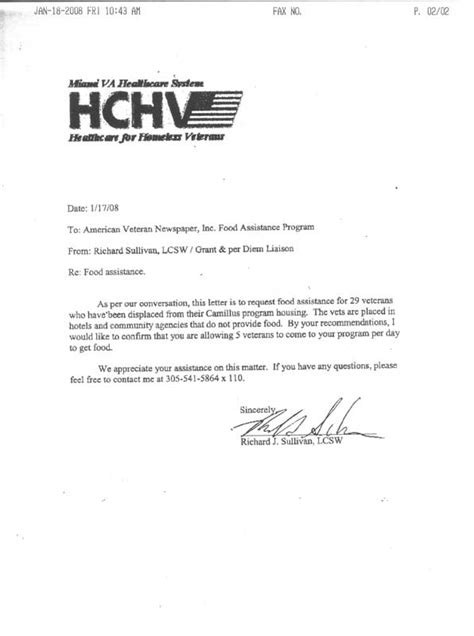 Proof Of Homelessness Letter American Veteran Newspaper Mission