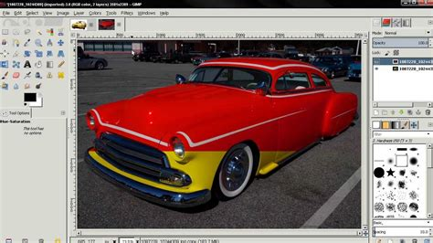 how to change car paint color in gimp 2 8