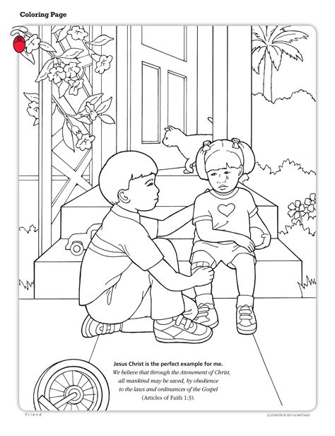 lds coloring pages i can be a good exle lesson 22 the atonement of jesus christ lds lesson ideas