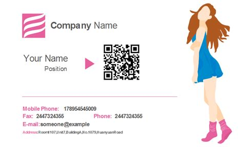 clothing store business card templates girly business card templates