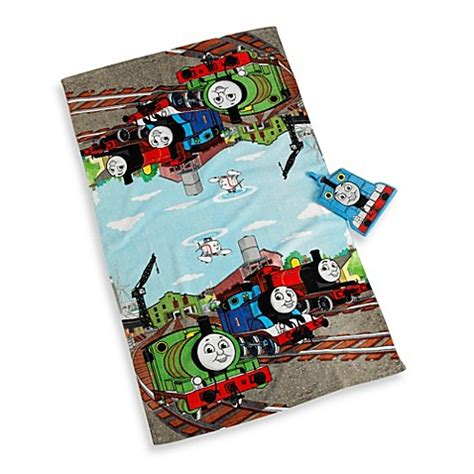 thomas the train bathroom set thomas the train bath towel and wash mitt set bed bath