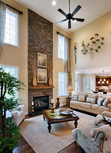 2 Story Living Room | i love 2 story living rooms my dream home decor pinterest high ceilings fireplaces and