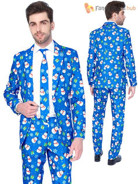 suit for christmas party mens suitmeister suit festive patterned fancy dress ebay
