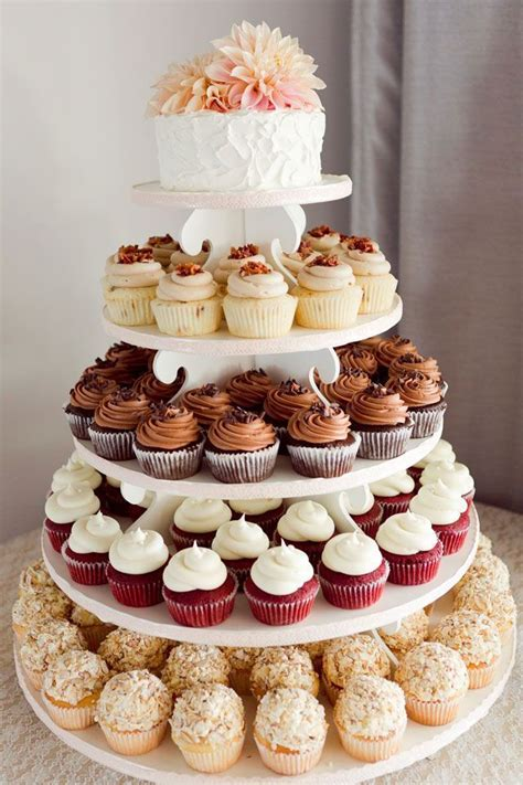 Wedding Cake With Cupcakes by Top 25 Best Cupcake Wedding Cakes Ideas On