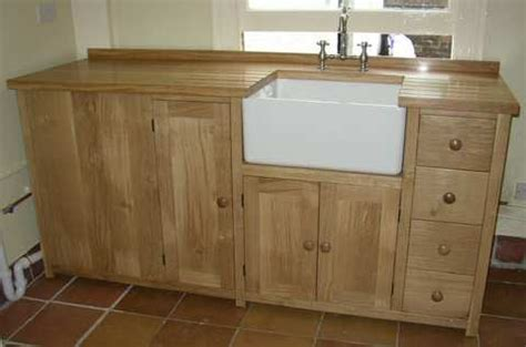 freestanding kitchen sink unit freestanding kitchen oak sink unit