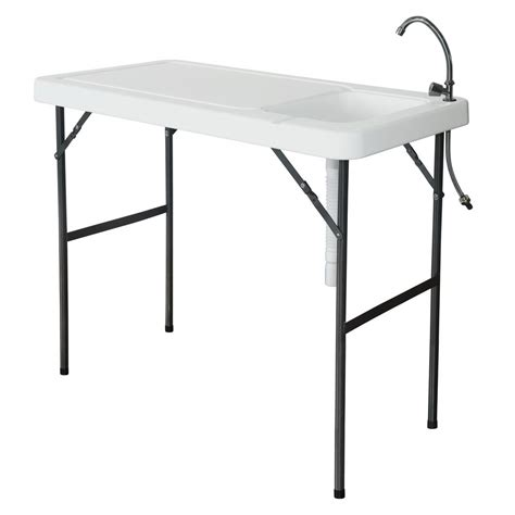 fillet table with sink folding portable fish fillet cutting table with sink