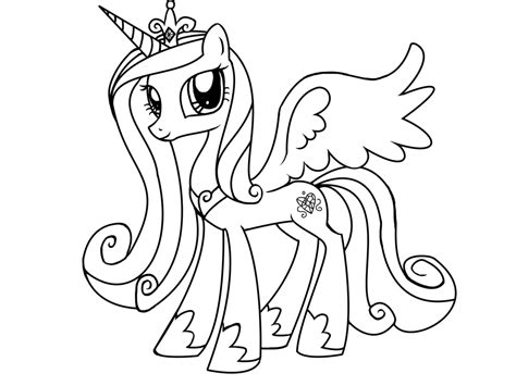 My Little Pony Coloring Pages Princess Cadence Az My Pony Friendship Coloring Pages