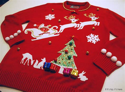 the ugly christmas sweater kit is the ultimate diy project