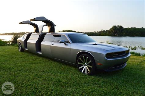 Limo Reservation by Dodge Challenger Limousine Clean Ride Limo