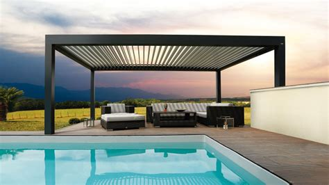 Exterior: Modern Backyard Decoration With Pergola Covers