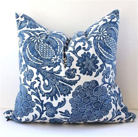 New Pazia Batik Navy floral batik decorative designer pillow cover 20x20 new