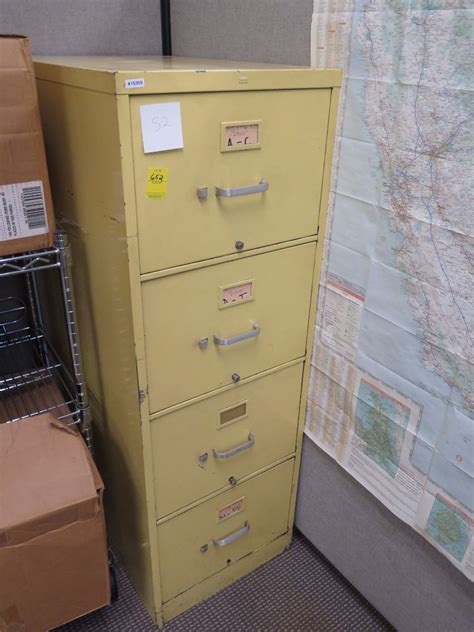 Yellow Filing Cabinet 4 Drawer Lateral File Cabinet Yellow 18x52