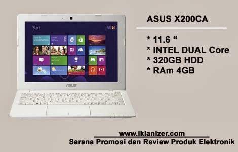 Notebook Asus X200ca Ram 4gb asus x200ca notebook cantik berkapasitas ram besar dengan harga menggiurkan jasa promosi iklan
