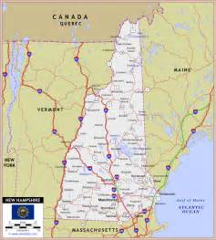 Nh State Map by Gallery For Gt New Hampshire Map Mountains