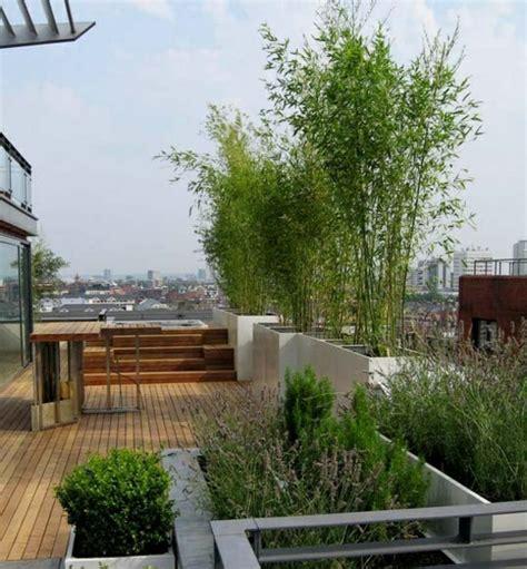 terrasse bambus bambus balkon sichtschutz gestaltung ideen im feng shui stil