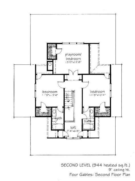 Gable House Plans by 2 341 Sq Ft Four Gables L Mitchell Ginn