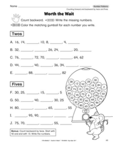 Counting Forward And Backwards Worksheets by 11 Best Images Of Counting Backwards From 20 Worksheets