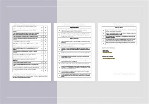 progressive discipline template checklist progressive discipline documentation template in