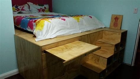 platform bed with desk 1000 images about room ideas on raised beds