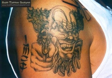 gangster clown tattoos 60 great and gangsta tattoos ideas golfian