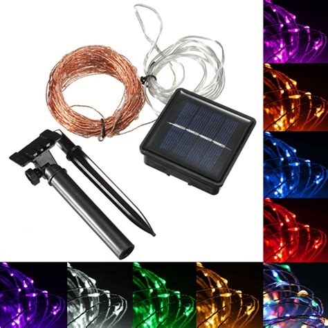 15m 150 Led Solar Powered Copper Wire String Fairy Light Solar Lights Clear Cable