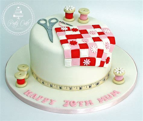 Patchwork Cake - sewing patchwork quilting birthday cake cake