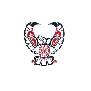 pacific northwest native american temporary tattoo eagle