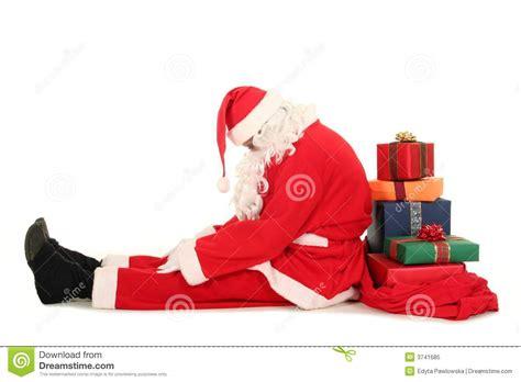 Imagenes De Santa Claus Triste   le p 232 re no 235 l fatigu 233 photo libre de droits image 3741685
